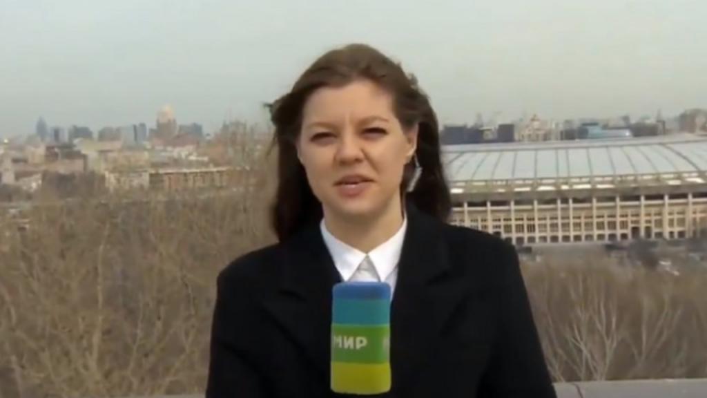 Jornalista russa Nadezhda Serezhkina