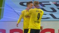 Passe soberbo de Haaland e Reus empata para o Borussia Dortmund