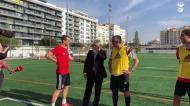 Vieira foi ver o vólei jogar futebol: «A ver se há aqui alguma coisa»