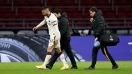 Leonardo Spinazzola saiu lesionado no Ajax-Roma (Peter de Jong/AP)