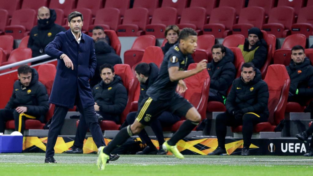 Paulo Fonseca no Ajax-Roma (Peter de Jong/AP)