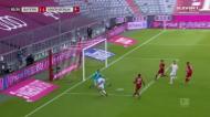 Defesa do Bayern é apanhada a dormir e Ingvartsen empata em Munique