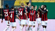 Milan festeja um dos golos na vitória em Parma (Elisabetta Baracchi/EPA)