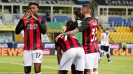 Rafael Leão fez o golo que fechou a vitória do Milan em Parma (Elisabetta Baracchi/EPA)