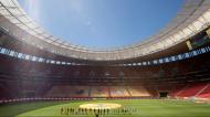 Supertaça do Brasil entre Flamengo e Palmeiras no Estádio Nacional de Brasília (Joedson Alves/EPA)