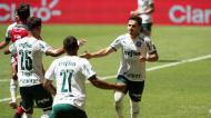 Raphael Veiga marcou para o Palmeiras na final da Supertaça do Brasil (Joedson Alves/EPA)