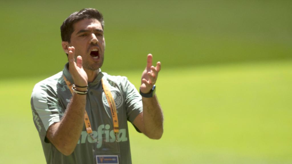 Abel Ferreira na final da Supertaça do Brasil, entre Palmeiras e Flamengo (Joedson Alves/EPA)