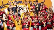 Flamengo conquistou a Supertaça do Brasil frente ao Palmeiras de Abel (EPA)