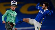 Gylfi Sigurdsson e Adam Lallana no Brighton-Everton (Glyn Kirk/EPA)