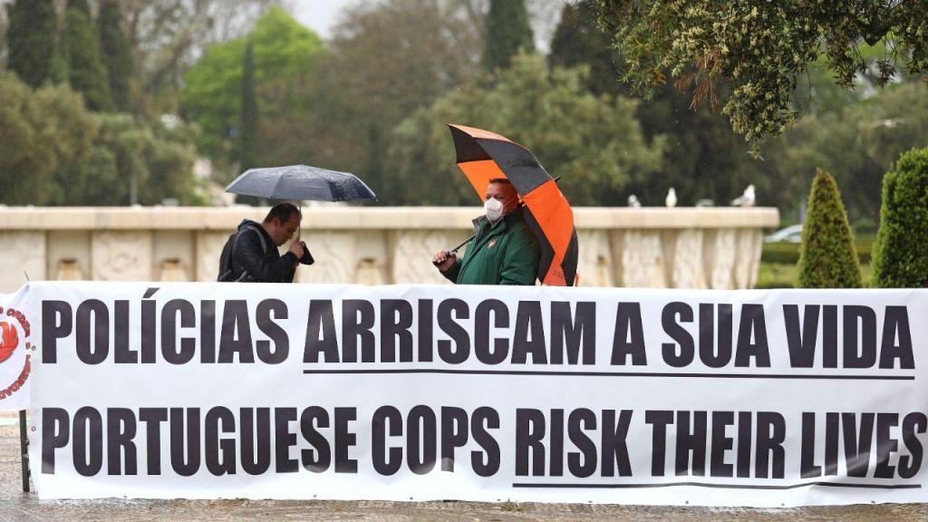 Protesto de agentes da Polícia de Segurança Pública (PSP)