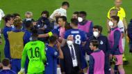 Discussão entre Pepe e Rudiger provoca confusão no final do Chelsea-FC Porto