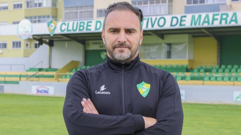 Ricardo Sousa é o novo treinador do Mafra (foto do Mafra)