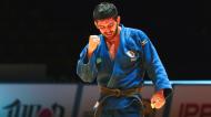 João Crisóstomo festeja medalha de bronze nos Europeus de judo, na categoria - 66 quilos (Nuno Veiga/EPA)