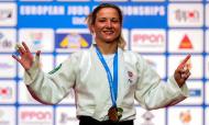 Telma Monteiro conquista medalha de ouro nos Europeus de judo 2021, em Lisboa (Nuno Veiga/EPA)