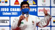 João Crisóstomo conquista bronze em -66 quilos nos Europeus de judo de Lisboa (Nuno Veiga/EPA)