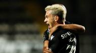 Pedro Gonçalves abriu o marcador no Farense-Sporting (Luís Forra/LUSA)