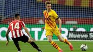 Frenkie De Jong e Dani Garcia no Athletic-Barcelona, da final da Taça do Rei (Julio Munoz/EPA)