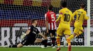 Griezmann abriu o marcador na final da Taça do Rei ante Athletic e Barcelona (Julio Munoz/EPA)