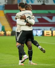 Pogba e Bruno Fernandes (AP PhotoAndrew Boyers,Pool)
