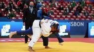 Rochele Nunes contra Renee Lucht nos Europeus de Judo 2021, em Lisboa (Nuno Veiga/LUSA)
