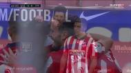 Llorente bisa e o Atlético Madrid chega à mão cheia