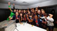 PSG festeja qualificação para as meias-finais da Liga dos Campeões feminina (PSG)