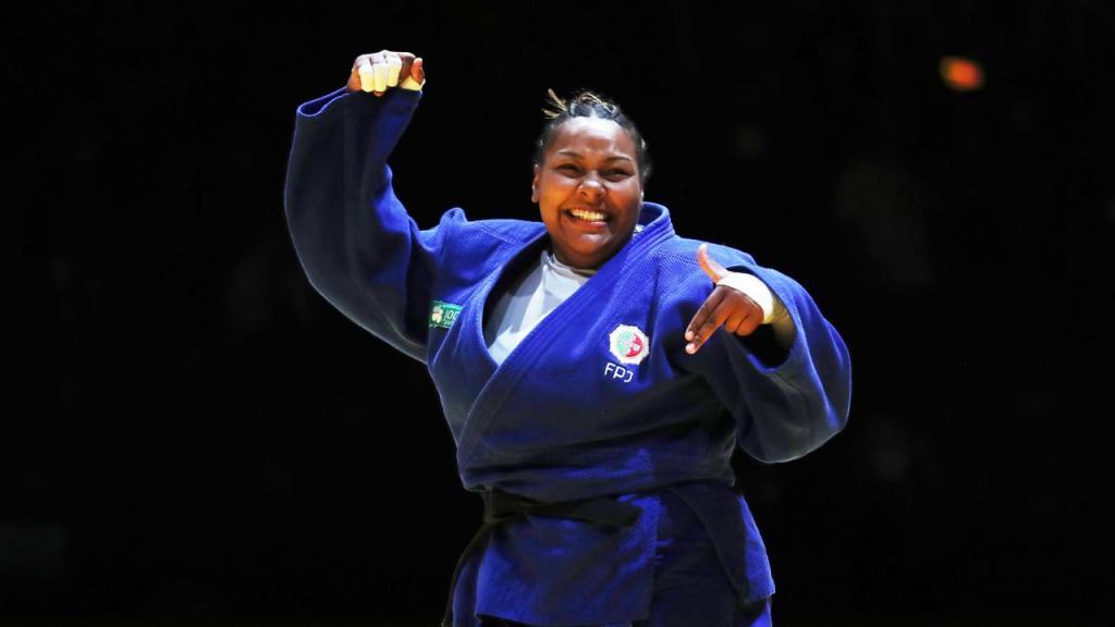 Rochele Nunes conquista medalha de bronze nos Europeus de judo 2021, em Lisboa (Nuno Veiga/LUSA)