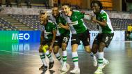 Zicky Té com Tomás Paçô, Pauleta e Pany Varela na Taça da Liga ganha pelo Sporting (LUSA)