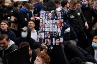 Protestos contra a Superliga (AP Photo/Matt Dunham)