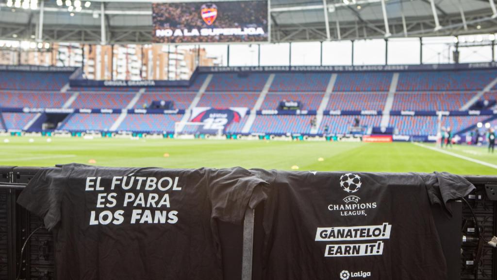 Equipas espanholas protestam contra a Superliga Europeia