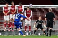 Arsenal-Everton (Justin Setterfield/Pool via AP)