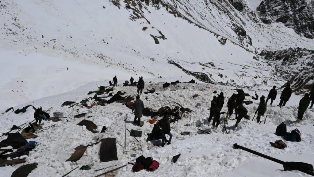 Avalanche na Índia