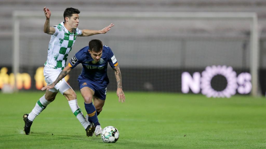 Filipe Soares e Otávio no Moreirense-FC Porto (Estela Silva/LUSA)