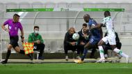 Abdu Conté e Marega no Moreirense-FC Port (Estela Silva/LUSA)