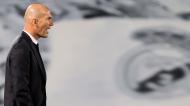 Zinedine Zidane no Real Madrid-Chelsea (Juanjo Martín/EPA)