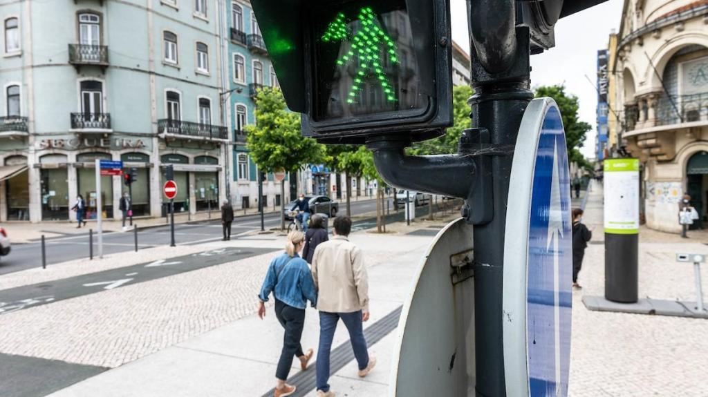 Semáforo para daltónicos em Lisboa