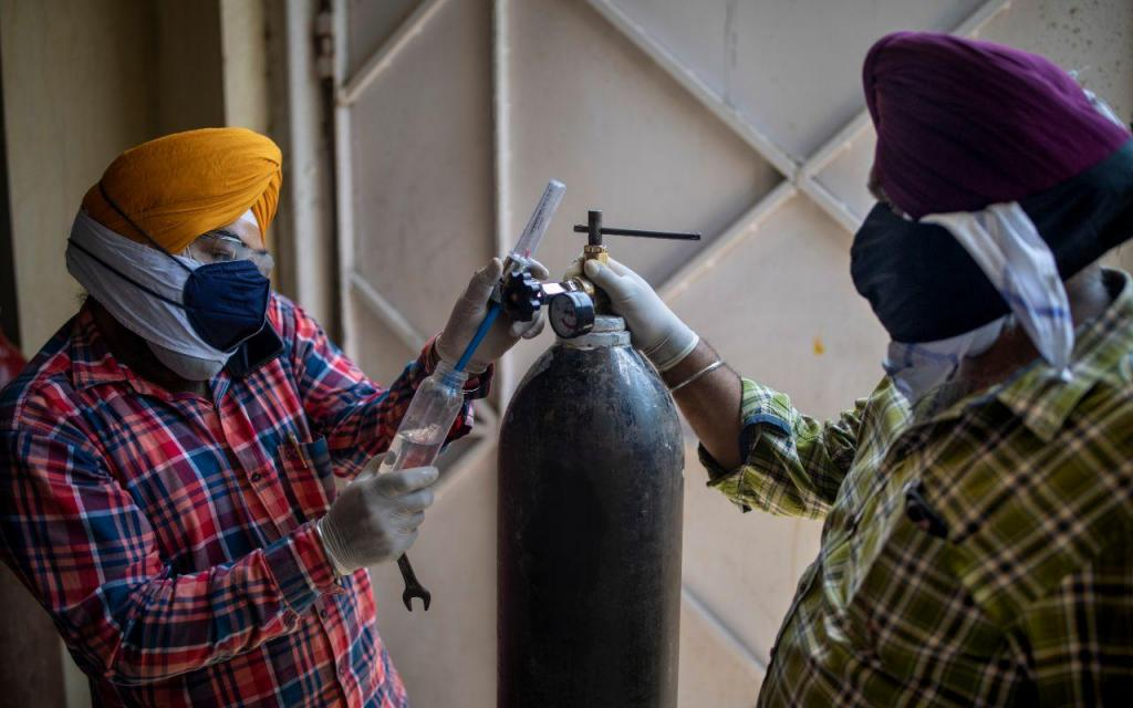 A luta desenfreada por oxigénio na Índia