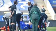 Harvey Barnes lesionou-se no Leicester-Arsenal, em fevereiro (Rui Vieira/AP)