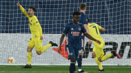Liga Europa: Manu Trigueros festeja o 1-0 no Villarreal-Arsenal (Alberto Saiz/AP)