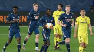 Liga Europa: Nicolas Pépé reduziu para 2-1 no Villarreal-Arsenal (Alberto Saiz/AP)