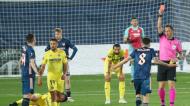 Liga Europa: Artur Soares Dias expulsa Ceballos no Villarreal-Arsenal (Alberto Saiz/AP)