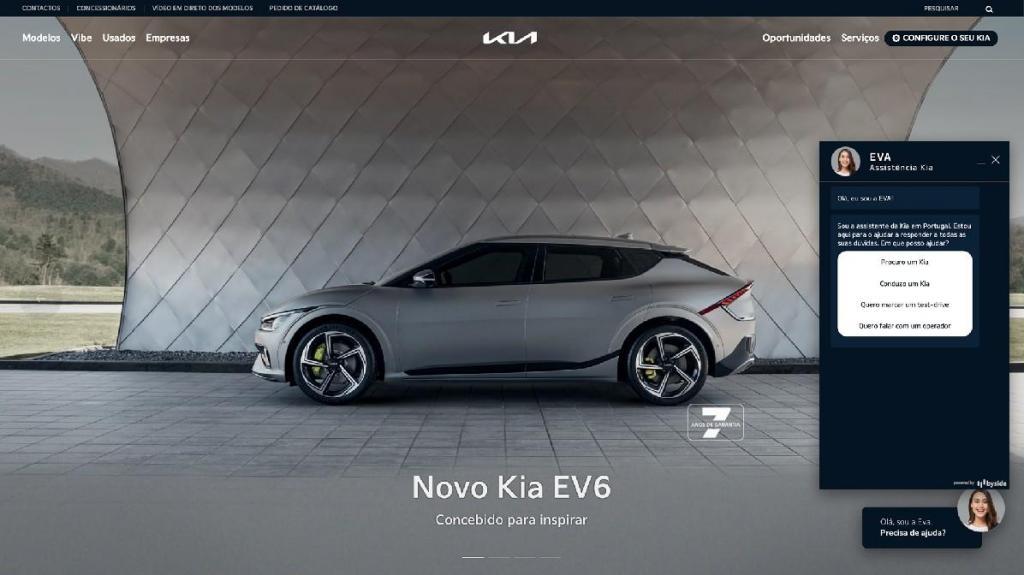 Kia já tem uma Eva, é o novo chatbot