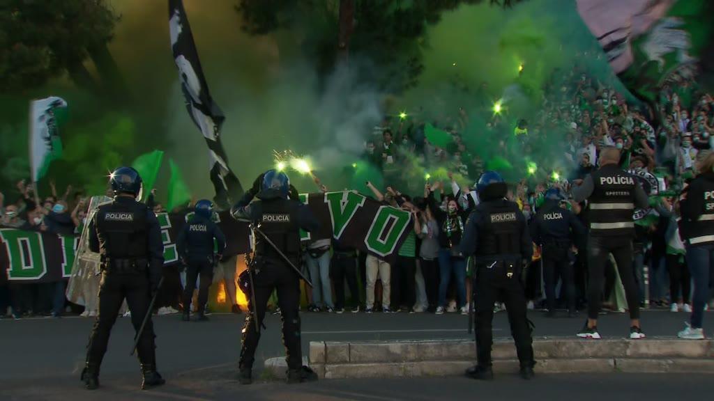 Muita euforia na chegada do Sporting a Alvalade