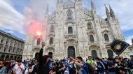 Festa em Milão (Claudio Furlan/LaPresse via AP)
