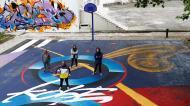 Kobe Bryant eternizado em campo de basquetebol e prédio de 12 andares em Lisboa (António Cotrim/Lusa)