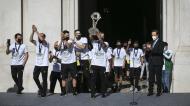 Receção dos campeões europeus de futsal pelo Sporting na Câmara Municipal de Lisboa (Rodrigo Antunes/LUSA)