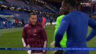 Hazard apanhado a rir-se às gargalhadas após a derrota do Real Madrid