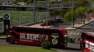 Benfica: autocarros pararam para jogadores verem o apoio dos adeptos