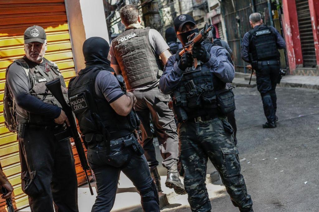 Megaoperação policial em favela do Rio de Janeiro