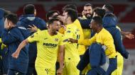 Villarreal festeja apuramento para a final da Liga Europa (Andy Rain/EPA)